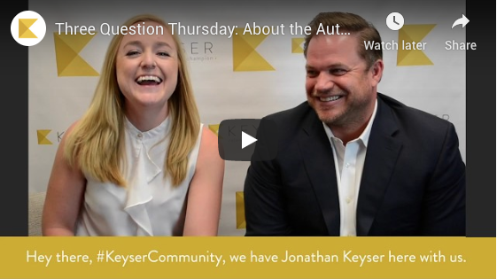 Three Question Thursday: About the Author—Jonathan Keyser